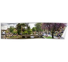 A HDR panoramic image of Bourton-on-the-water Poster