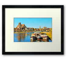 Summer in Burgundy Framed Print