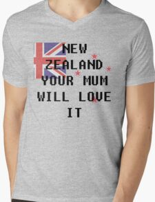 New Zealand Mens V-Neck T-Shirt