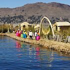 Colourful Titicaca Locals by Daniel  Archer