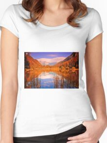 Indian Summer at Dürrsee Women's Fitted Scoop T-Shirt