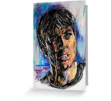 Portraits of Tom Welling, Clark Kent of Smallville Greeting Card