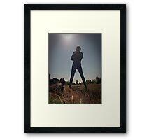 Blue Solitary 10 Framed Print