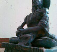 budha mini sculpture by zainab yasmeen