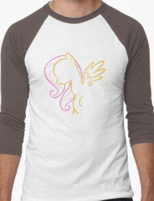 Fluttershy Outline Men's Baseball ¾ T-Shirt