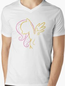 Fluttershy Outline Mens V-Neck T-Shirt
