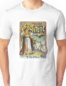 Acatène Velleda French Vintage Advertising Poster Unisex T-Shirt