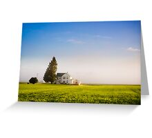 Farm House in the morning light Greeting Card