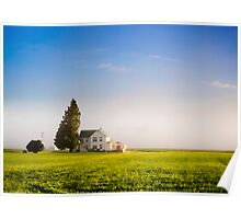 Farm House in the morning light Poster