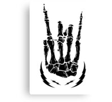 Bone hand skeleton rock sign Canvas Print