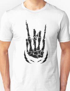 Bone hand skeleton rock sign Unisex T-Shirt
