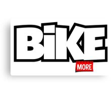 Bike More Canvas Print