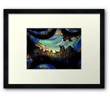 Blue Space Zone Framed Print