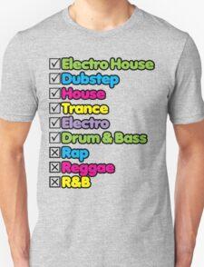 I Listen To: Unisex T-Shirt