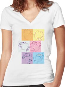 6 Main_squares 1 Women's Fitted V-Neck T-Shirt