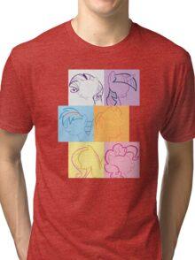 6 Main_squares 2 Tri-blend T-Shirt
