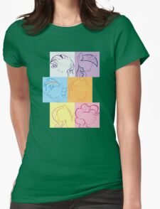 6 Main_squares 2 Womens Fitted T-Shirt