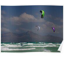 Kite Surfers, Playa de Muro Poster