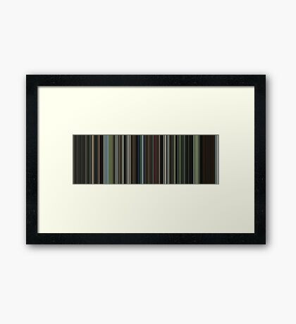Moviebarcode: The Beach (2000) [Simplified Colors] Framed Print