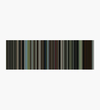 Moviebarcode: The Beach (2000) [Simplified Colors] Photographic Print