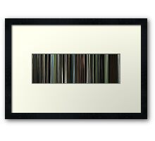Moviebarcode: The Beach (2000) Framed Print