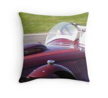Speeding driver, Goodwood Revival 2008 Throw Pillow