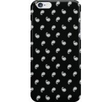 Black and white paisley bandana pattern iPhone Case/Skin