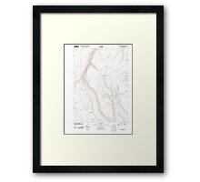 USGS Topo Map Oregon Red Bank Lakes 20110902 TM Framed Print