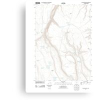 USGS Topo Map Oregon Red Bank Lakes 20110902 TM Canvas Print