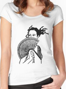 """""""Geisha Girl"""" Clothing Women's Fitted Scoop T-Shirt"""