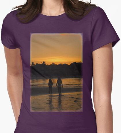 Beach Attractions Womens Fitted T-Shirt
