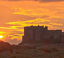Bamburgh Sunset by Chris Vincent