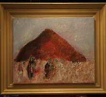 Mountain and Two Figures by Tim  Duncan