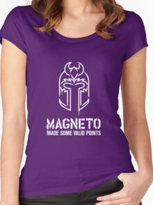 Magneto Made Some Valid Points - Dark Background Women's Fitted Scoop T-Shirt