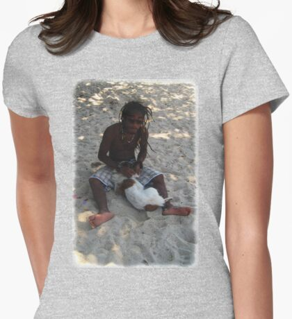 Beach Dog Groomimg Womens Fitted T-Shirt