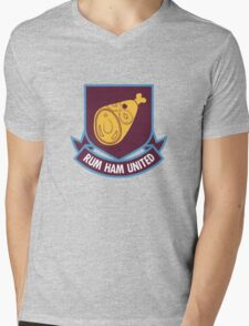 Rum Ham United FC Mens V-Neck T-Shirt
