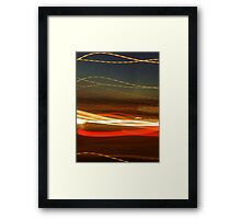 Ribbon light sunset  Framed Print