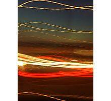 Ribbon light sunset  Photographic Print