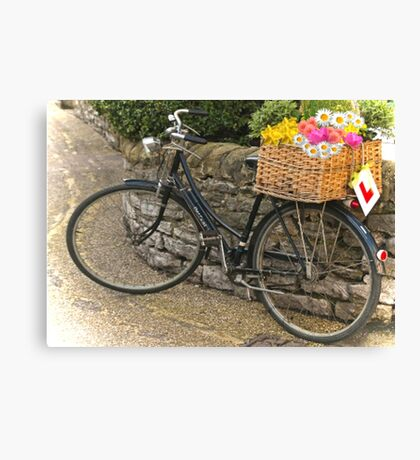 Vintage Push Bike  Canvas Print