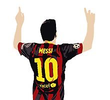 Messi after GOAL!! Photographic Print