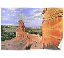 Lighthouse Rock, Palo Duro Canyon Poster