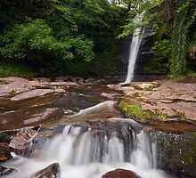 Caerfanell Waterfall by Steve  Liptrot