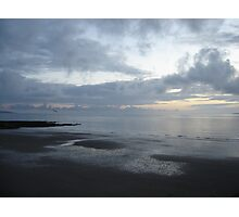 Flight of a seagull at sunset, Ballybunion, Ireland Photographic Print
