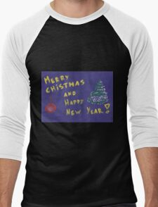 Xmas background Men's Baseball ¾ T-Shirt