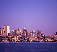 Seattle at dawn by Andrey Popov