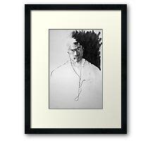Self Portrait, Listening to Music Framed Print