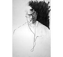 Self Portrait, Listening to Music Photographic Print