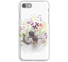 Puppies and flower iPhone Case/Skin