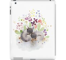 Puppies and flower iPad Case/Skin
