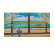view  from the window on the sea Art Print